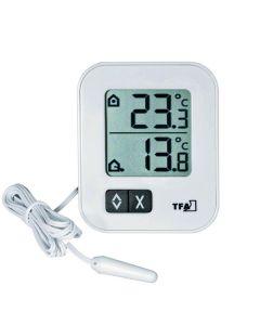 Min./max. thermometer wit met sensor
