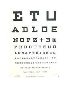Leeskaart letters ETU  kunststof 48x62cm