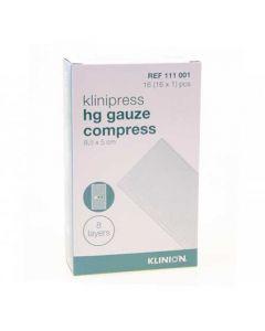 Klinion Klinipress HG kompres steriel 8,5 x 5 cm