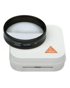 Heine asferische A.R. 20D ophthalmoscoop loep lens 50mm in hard etui