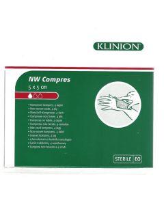 Klinion NW compres 5 x5 cm steriel